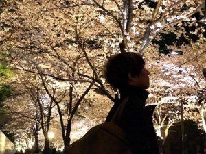 赤坂アークヒルズのライトアップの画像